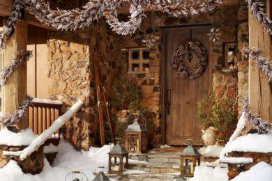 cabin winter life