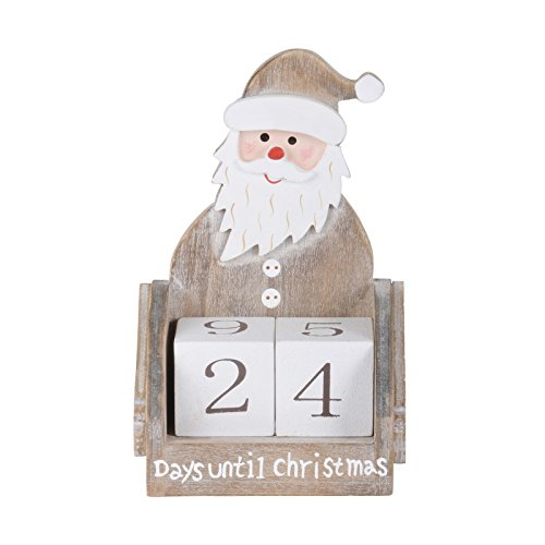 wooden block days until christmas countdown calendar xmas festive decoration